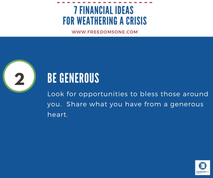 Step 2 Financial ideas for a Crisis