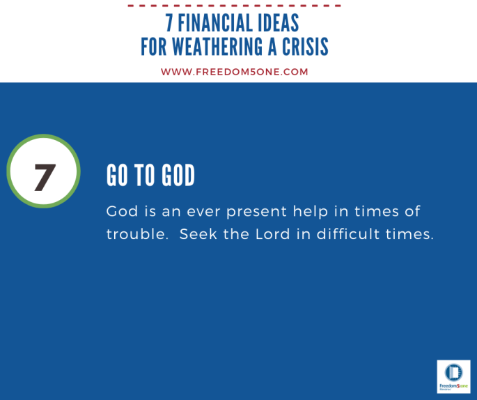 Step 7 Financial ideas for a Crisis