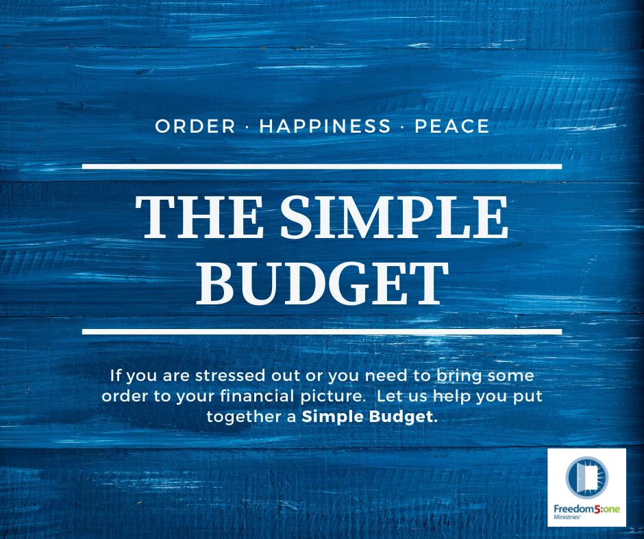 The Simple Budget- HOP no questions