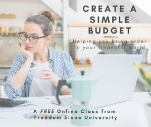create a simple budget- F51U- fb